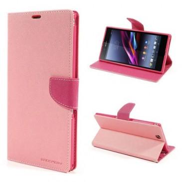 Sony Xperia Z Ultra Vaaleanpunainen Fancy Kotelo