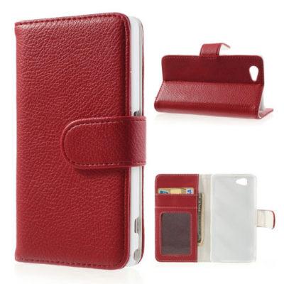 Sony Xperia Z1 Compact Punainen Lompakko Suojakuori