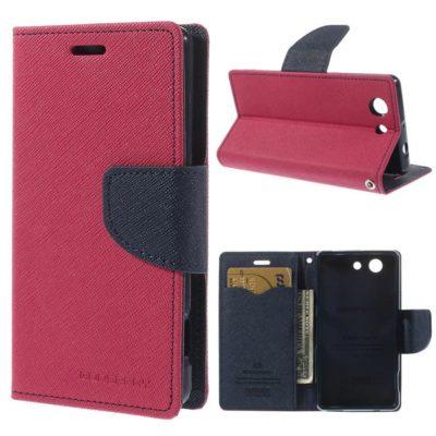 Sony Xperia Z3 Compact Pinkki Fancy Suojakotelo