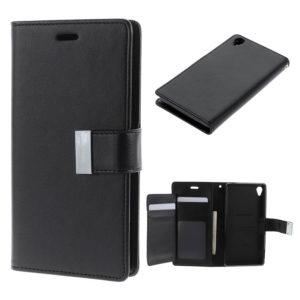 Sony Xperia Z3 Musta Rich Diary Lompakkokotelo