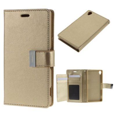 Sony Xperia Z3 Rich Diary Lompakkokotelo Kulta