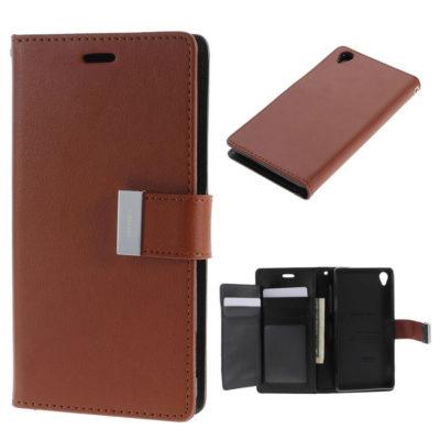 Sony Xperia Z3 Ruskea Rich Diary Lompakkokotelo