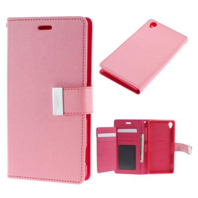 Sony Xperia Z3 Vaaleanpunainen Rich Diary Kotelo
