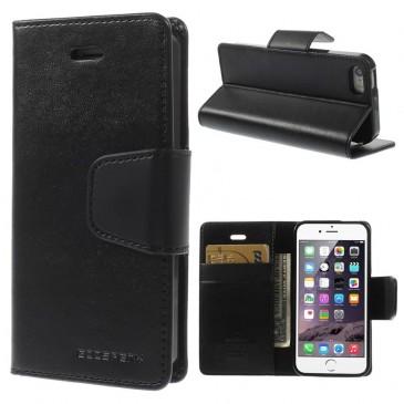 Apple iPhone 5 / 5S / SE Musta Goospery Lompakkokotelo