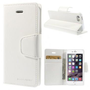 Apple iPhone 5 / 5S / SE Valkoinen Goospery Lompakkokotelo