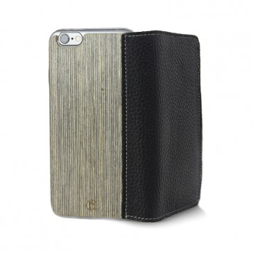 Apple iPhone 6 Plus Lastu Musta Nahka / Kelo Lompakko