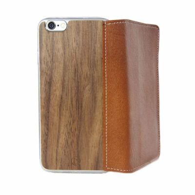 Apple iPhone 6 Plus Lastu Ruskea Nahka / Pähkinä Lompakko