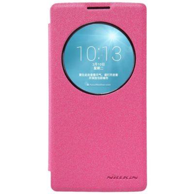 LG Spirit 4G LTE Pinkki Nillkin Sparkle Kotelo