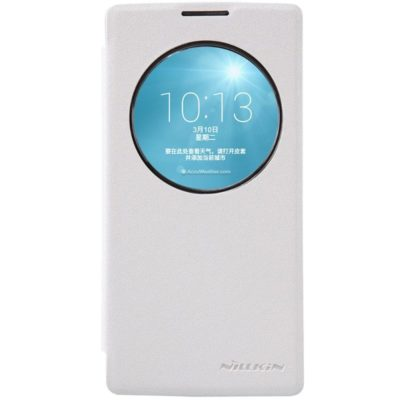 LG Spirit 4G LTE Valkoinen Nillkin Sparkle Kotelo