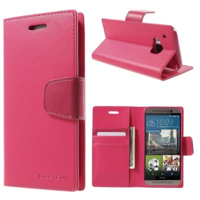 HTC One M9 Pinkki Sonata Lompakkokotelo
