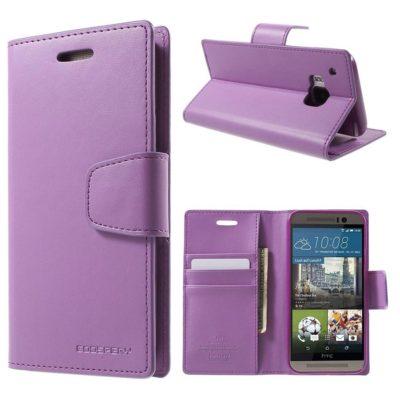 HTC One M9 Violetti Sonata Lompakkokotelo