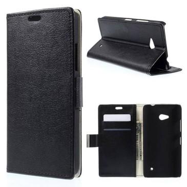 Microsoft Lumia 640 LTE Lompakko Suojakotelo Musta
