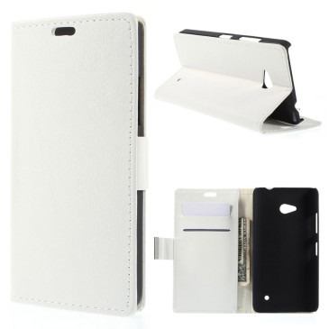 Microsoft Lumia 640 LTE Lompakko Suojakotelo Valkoinen