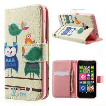 Nokia Lumia 630 Lompakko Suojakotelo Pöllö