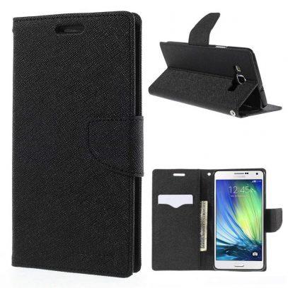 Samsung Galaxy A7 Suojakotelo Musta Fancy