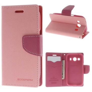 Samsung Galaxy Ace 4 Kotelo Vaaleanpunainen Fancy