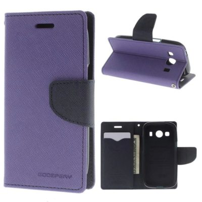 Samsung Galaxy Ace 4 Kotelo Violetti Fancy