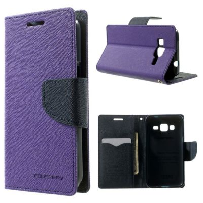 Samsung Galaxy Core Prime Kotelo Violetti Fancy