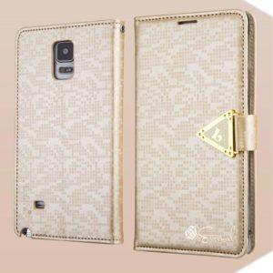 Samsung Galaxy Note 4 Kotelo Kultainen Leiers