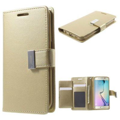 Samsung Galaxy S6 Edge Kotelo Rich Diary Kulta