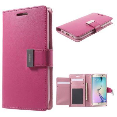 Samsung Galaxy S6 Edge Kotelo Rich Diary Pinkki