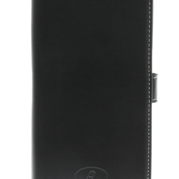 Samsung Galaxy S6 Edge Nahkakotelo Musta Insmat