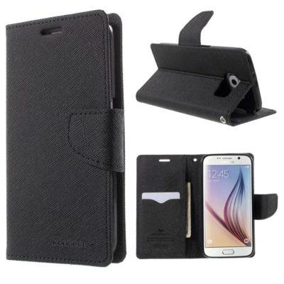 Samsung Galaxy S6 Suojakotelo Musta Fancy