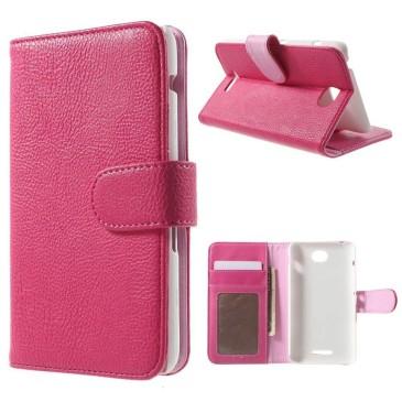 Sony Xperia E4 Lompakkokotelo Pinkki