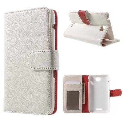 Sony Xperia E4 Lompakkokotelo Valkoinen