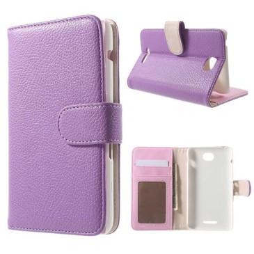 Sony Xperia E4 Lompakkokotelo Violetti