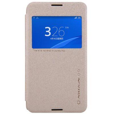 Sony Xperia E4g Kultainen Nillkin Sparkle Suojakotelo