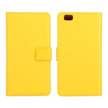 Huawei P8 Lite Keltainen Nahka Lompakkokotelo