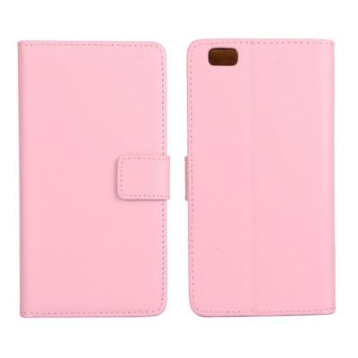 Huawei P8 Lite Vaaleanpunainen Nahka Lompakkokotelo