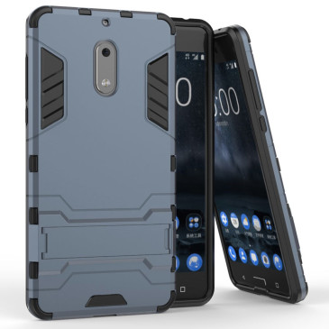 Nokia 6 Suojakuori 2-osainen Tummansininen