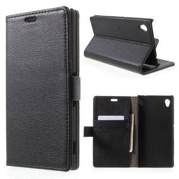 Sony Xperia M4 Aqua Musta Lompakkokotelo