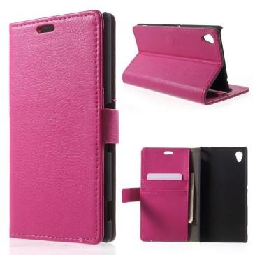 Sony Xperia M4 Aqua Pinkki Lompakkokotelo