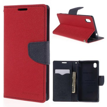 Sony Xperia M4 Aqua Punainen Fancy Suojakotelo
