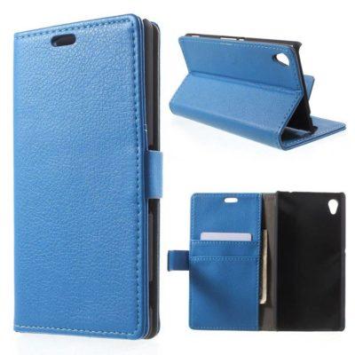 Sony Xperia M4 Aqua Sininen Lompakkokotelo