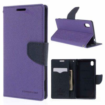 Sony Xperia M4 Aqua Violetti Fancy Suojakotelo