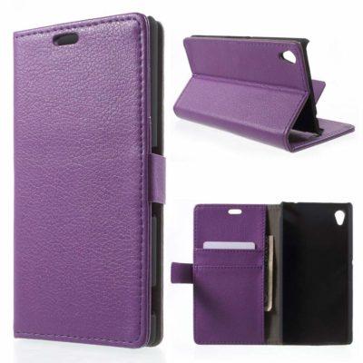 Sony Xperia M4 Aqua Violetti Lompakkokotelo
