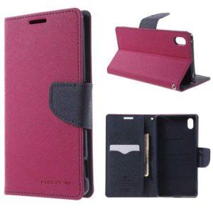 Sony Xperia Z3+ Pinkki Fancy Lompakkokotelo