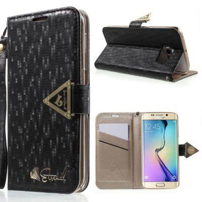 Samsung Galaxy S6 Edge Kotelo Leiers Musta