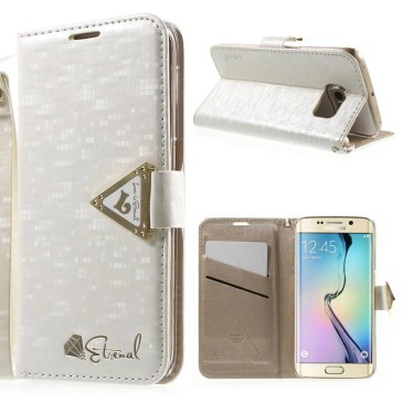 Samsung Galaxy S6 Edge Kotelo Leiers Valkoinen