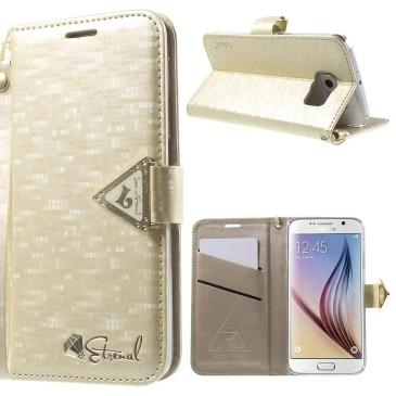 Samsung Galaxy S6 Kotelo Kultainen Leiers