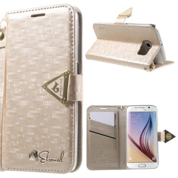 Samsung Galaxy S6 Kotelo Vaaleanpunainen Leiers