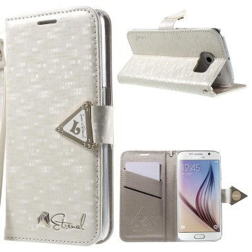 Samsung Galaxy S6 Kotelo Valkoinen Leiers