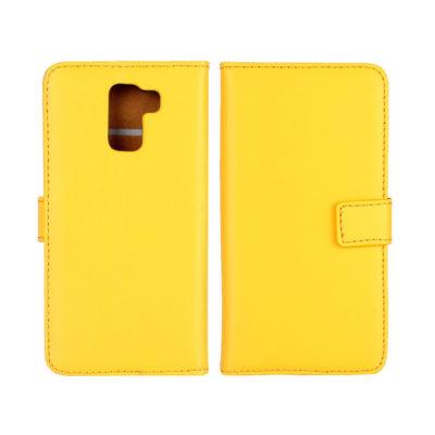 Huawei Honor 7 Suojakotelo Keltainen Nahka