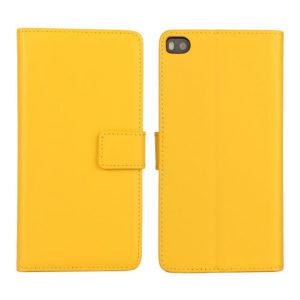 Huawei P8 Keltainen Lompakko Nahkakotelo