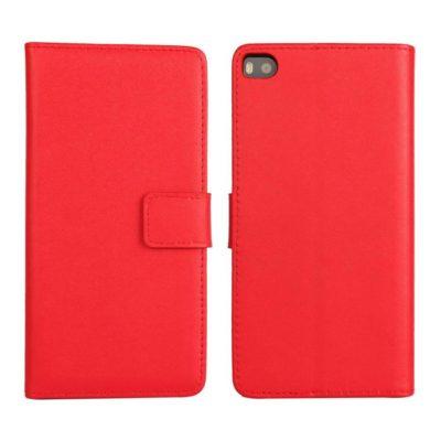 Huawei P8 Punainen Lompakko Nahkakotelo