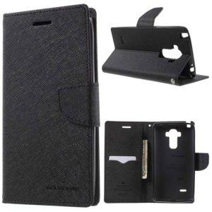 LG G4 Stylus Lompakkokotelo Musta Fancy